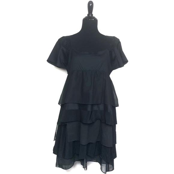 Prada Dresses & Skirts - Prada Black Ruffle Tiered Prairie Dress